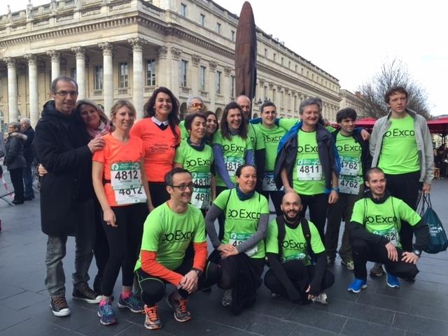 Les équipes Exco Valliance au marathon de Bordeaux