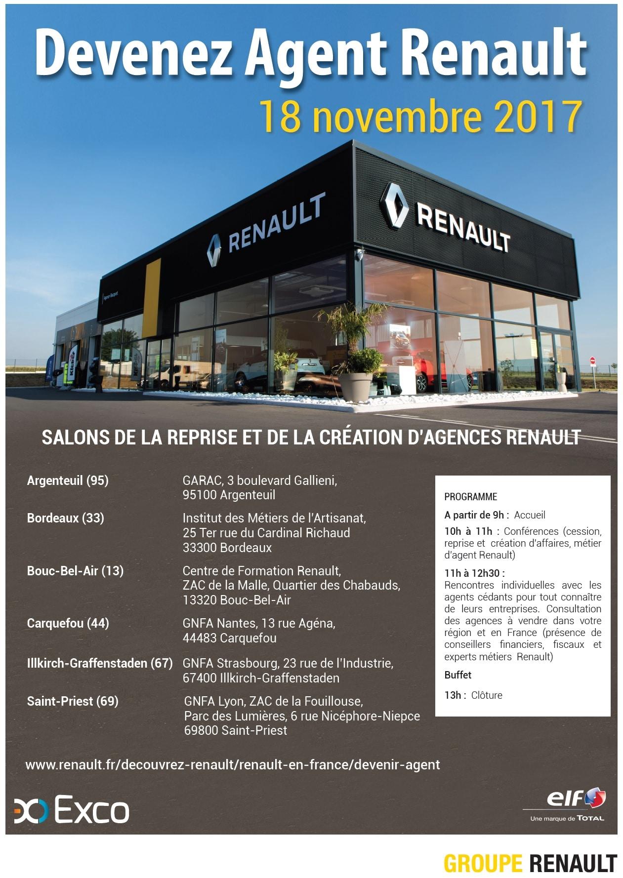 Salon de la reprise et de la création d'agences Renault – Novembre 2017 🗓