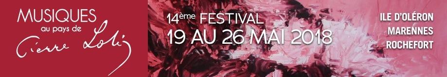 Festival Musiques au Pays de Pierre Loti – 19 au 26 mai 2018 🗓