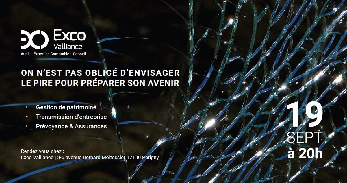 """Soirée """"On n'est pas obligé d'envisager le pire pour préparer son avenir"""" La Rochelle – 19 Septembre 2018 🗓"""