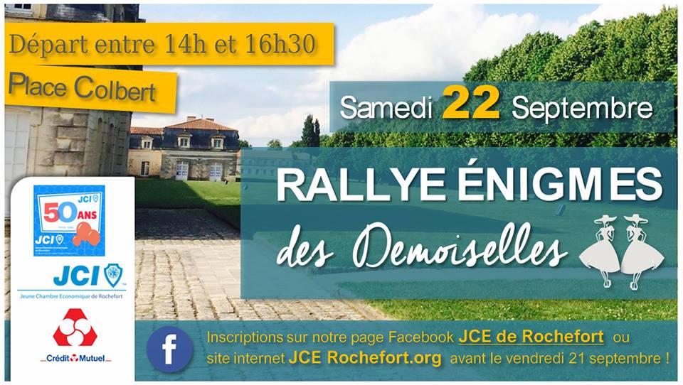 """Rallye des Demoiselles suivi par la conférence """"Développer son estime de soi"""" – 22 Septembre 2018 🗓"""