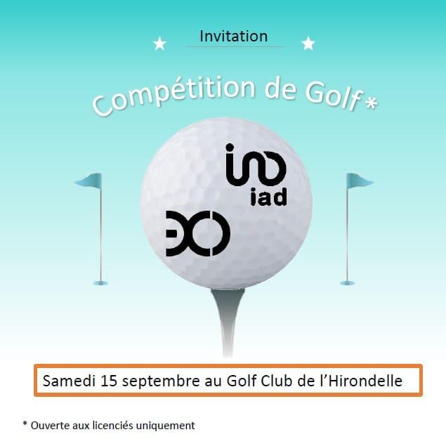 Compétition de Golf – Golf Club de l'Hirondelle à Angoulême – 15 Septembre 2018 🗓