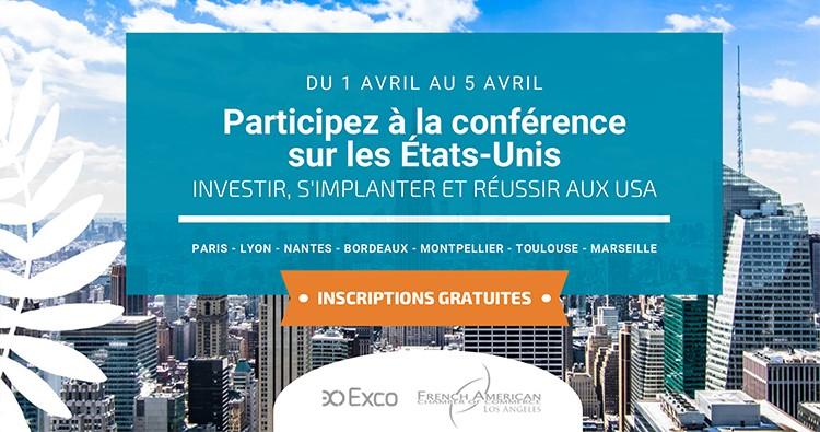 Conférence Investir, s'implanter et réussir aux USA – 2 avril 2019 à Bordeaux 🗓 🗺
