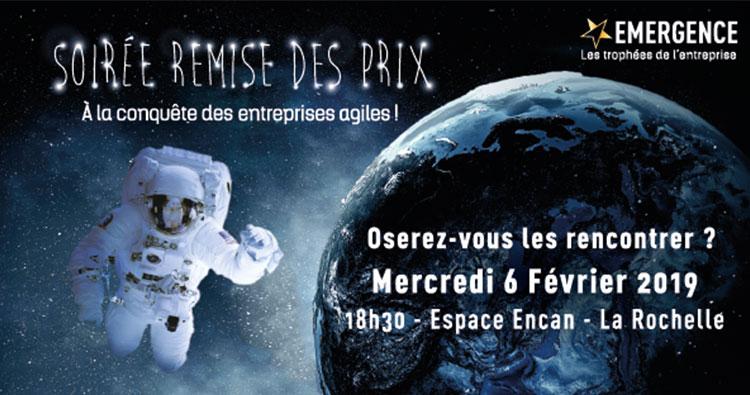 Soirée de la remise des prix Emergence 2019 à La Rochelle